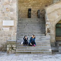 las dos (lospollos1) Tags: streetphotography streetart street barcelona girl gotico