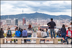 Barcelona (Mark Greening) Tags: catalonia museunacionald'artdecatalunya thornburycastle spain barcelona bench people thornbury tourists fundaciójoanmiró barcelonaprovince es