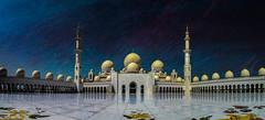 Panoramic Mosque - Sheik Zayed Mosque - Abu Dhabi (D. Pacheu) Tags: mosque sky pacheu abu dhabi uae sheik zayed blue