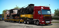 Testing DAF XF105 Heavy-Haul configuration [ETS2] (gripshotz) Tags: daf xf 105 510 6x4 heavy haul oversize trailer euro truck simulator ets 2