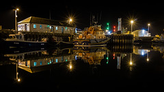 The Station (MBDGE >1.5 Million Views) Tags: kirkwall orkney boat sea reflection black lights night long exposure rnli lifeboat rescue water sky road ship building scotland marine uk canon