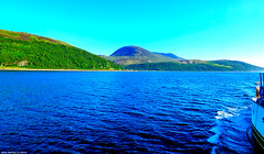 Scotland West Highlands Argyll the island of Arran on a sunny evening 24 June 2018 by Anne MacKay (Anne MacKay images of interest & wonder) Tags: scotland west highlands argyll sea island arran sunny evening landscape 24 june 2018 picture by anne mackay