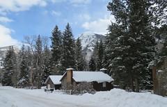 Cozy Colorado Cabin (Patricia Henschen) Tags: marble colorado winter snow log cabin trees clouds pathscaminhos