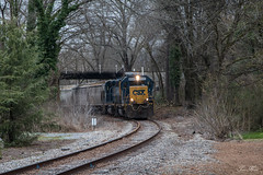 Running Underneath (travisnewman100) Tags: csx train railroad rr freight locomotive emd gp382 gp402 sgc cartersville subdivision atlanta division a700 rockmart georgia manifest