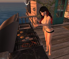 BBQ (kristen.devil1313) Tags: bbq sexy sex naughty evening beach water ocean indulge hamburger hot dogs siren night second life