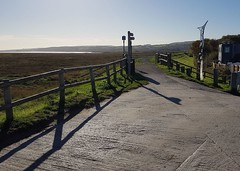 End of Path (john atte kiln) Tags: landscape paths concrete shutteredconcrete signposts horizon gate fences rails posts shadows marshland sculpture