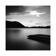 Schliersee, Germany (Christian Seifert) Tags: bavaria bayern germany deutschland schliersee lake alps alpen landscape long exposure black white medium format pentax 645n film analogue 45mm