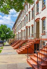 Lander Street Rowhouses (Eridony (Instagram: eridony_prime)) Tags: newburgh orangecounty newyork house houses rowhouses townhouses townhomes