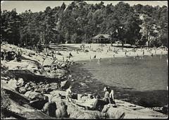 Postkort fra Agder (Avtrykket) Tags: strand badende furu hus postkort sjø skog strandhus strandliv svaberg grimstad austagder norway nor