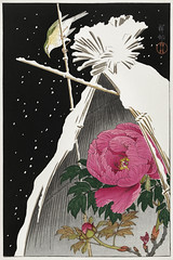 Siberian bluechat next to a peony (1925 - 1936) by Ohara Koson (1877-1945). Original from The Rijksmuseum. Digitally enhanced by rawpixel. (Free Public Domain Illustrations by rawpixel) Tags: pdproject21batch2x otherkeywords tagcc0 animal antique art asian drawing flower haysheaf illustration japan japanese koson museum name ohara oharakoson old paint peony rijksmuseum siberianbluchat vintage