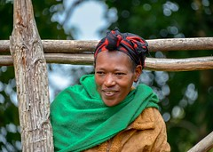 Saware Woman (Rod Waddington) Tags: africa african afrique afrika äthiopien ethiopia ethiopian ethnic etiopia ethnicity ethiopie etiopian saware woman portrait candid outdoor wolayta wollaita wollayta tribe traditional tribal culture cultural wood trees village