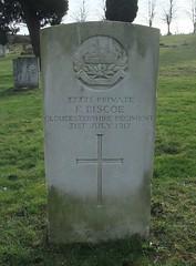 Private F. Biscoe (Living in Dorset) Tags: wargrave wardead grave headstone wwi 1917 fbiscoe aldershotcivilcemetery aldershot hampshire england uk gb