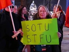 State of The Union, 2019 (Susan Melkisethian) Tags: stateoftheunion congress trump theuscapitol antitrump senate dc demonstration washington washingtondc 2019 impeach putin