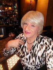 I've Become A Sunday Afternoon Fixture (Laurette Victoria) Tags: bar hotel milwaukee pfisterhotel woman laurette blonde animalprint blouse