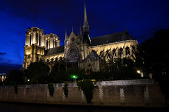 Notre-Dame at blue hour (Valantis Antoniades) Tags: notredame blue hour notre dame paris france gothic architecture cathedral