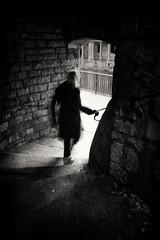 the winding stairs down (Daz Smith) Tags: select dazsmith fujifilmxt3 xt3 fuji bath city streetphotography people candid citylife thecity urban streets uk monochrome blancoynegro blackandwhite mono winding stairs down silhouette absoluteblackandwhite