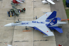 05 Blue Outline Sukhoi Su-27LL (pslg05896) Tags: maks zia uubw zhukovsky moscow russia 05blue sukhoi su27 gromov