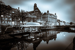 City view (Maria Eklind) Tags: malmöcentralstation sweden blackandwhite centralstation malmö monochrome bw skånelän sverige se