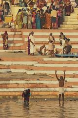0882 Ganges Morning (Hrvoje Simich - gaZZda) Tags: people outdoors water river praying morning varanasi ganges travel india asia nikon nikond750 nikkor283003556 gazzda hrvojesimich