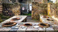 Ercolano, Italy: Public cooking area in Roman ruins at the Herculaneum archaeological park (nabobswims) Tags: campania ercolano hdr herculaneum highdynamicrange ilce6000 it italia italy lightroom mirrorless nabob nabobswims photomatix romanruins sel18105g sonya6000