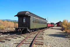 Waiting for the Engine (Eclectic Jack) Tags: eastern oregon trip october 2018 rural agriculture farm farming autumn fall mountains abandoned house structure home train rail valley sumpter railway