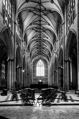 York Minster (Derwisz) Tags: yorkshire york unitedkingdom yorkminster cathedral church architecture arch gothic englishgothic nave greatwestwindow hdr highdynamicrange canoneos40d england sacralbuilding sacred historic blackwhite blackandwhite monochrome