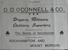 D D O'Connell & Co - Rockhampton, Qld - 1907 (Aussie~mobs) Tags: 1907 vintage queensland australia rockhampton annualpublication printed advertisement ddoconnellco drapers shop