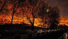 (syderianus) Tags: nikon d800 35mm mini panoramic alba dawn sunrise yellow orange red urban landscape citygram cityscape lungotevere rome roma