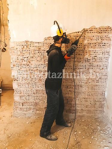 Демонтаж штукатурки 115м2 по адресу: г. Минск, ул. Волгоградская 78, работа выполнена за 10 часов
