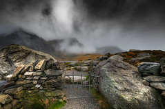 The gate to a beautiful life.. (Einir Wyn Leigh) Tags: landscape gate fence dream nature natural moody wales snowdonia wall stones mountains clouds rugged rural outside walking nikon light contrast