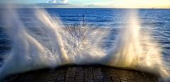 In Motion (PeskyMesky) Tags: aberdeen aberdeenbeach water wave landscape scotland canon canon6d eos