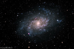 Triangulum Galaxy - M33 (Gary Woodburn) Tags: triangulum galaxy messier 33 m33 skywatcher 200 pds heq5 lodestar x2 canon 600d astro modified space stars