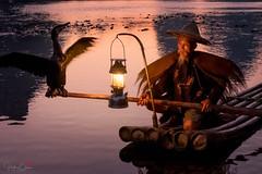 Night Flight (Hilton Chen) Tags: guilin autumn guangxiprovince bambooraft twilight xingpingfishingvillage oillamp liriver china guangxizhuangautonomousregion cn