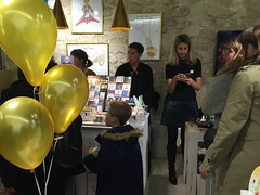 At the grand opening party for The Little Prince store in Paris (janeymoffat) Tags: party peoplewatching grandopening paris france petitprince lepetitprince store fete thelittleprince shopping