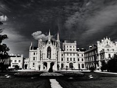 Lednice | Czech Republic (maryduniants) Tags: hrad zamek architecture clouds blackandwhite morava czechrepublic europe lednice castle