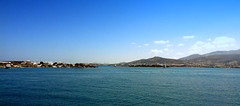 Panoramic View from the Antiparos Port (dimaruss34) Tags: sky clouds sunset sun skyline post solarpanel aegeansea island panorama mountains newyork brooklyn dmitriyfomenko image greece antiparos water
