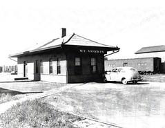 Mt. Morris Depot 1950's (R.G. Five) Tags: mtmorris mount il train railroad depot ci cbq kable troop kitchen