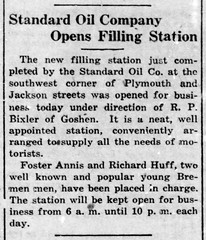 1923 - Standard Oil station built at Plymouth and Jackson - Enquirer - 12 Apr 1923