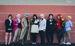 Jaehee Kang (강제희), Ray (최세란), V (김지현), MC, Zen (류 현), Jumin Han (한주민), 707 (최루시엘) & Yoosung Kim (김유성) (BTSEphoto) Tags: cosplay costume play コスプレ convention anime banzai layton utah davis conference center fuji fujifilm xt2 portrait mystic messenger 수상한메신저 v 김지현 jumin han 한주민 707 최루시엘 zen 류 현 ray 최세란 mc jaehee kang 강제희 yoosung kim 김유성 cheritz video game fujinon xf 23mm f14 r lens main character