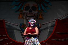 Pleased (Pedestrian Photographer) Tags: ddlm oct dsc6309 october 2018 dia de los muertos hollywood forever cemetery dance dancers dancing stage la catrina laurie marie contemporary arte movement company