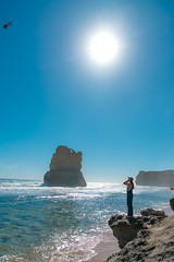 Afternoon (SemiXposed) Tags: 12 apostles water sun sky sony girl waves helicopter hot summer vacation holiday outdoors nature landscape victoria australia