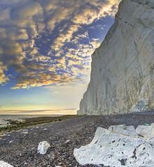 Beasley Street (pauldunn52) Tags: white cliffs chalk be achy head sussex coast sky sunset sea flint