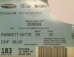 "Eintrittsbillett Chess - Abba Musical • <a style=""font-size:0.8em;"" href=""http://www.flickr.com/photos/79906204@N00/45219299045/"" target=""_blank"">View on Flickr</a>"