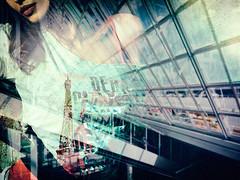 à Paris, s'il vous plaît... (helmet13) Tags: iphone8 windowshopping windowreflection windows munichairport poster woman advertizing ad shopwindow beauty paris fashion departure lips aoi peaceaward world100f
