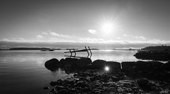 Baltic Sunsets #6 (gorelin) Tags: sony a7ii a7 fe28f20 alpha 28mm suns baltic suomi finland skies sea water sky beach autumn landscape blackandwhite blackwhite black white bw norkullalandet