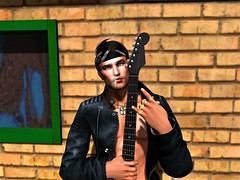 """"""" Voodoo Child """" (maka_kagesl) Tags: secondlife sl second life virtual videogame game gaming voodoo child voodoochild guitar rock music jimihendrix portrait photography photo picture pose pic smoke cig cigarette joint weed leather"""