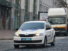 11-4843 (Vetal_888) Tags: skoda rapid police ukraine kyiv policelicenseplates номернізнаки україна київ 114843 lightbar