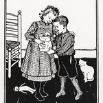 A boy and a girl by Julie de Graag (1877-1924). Original from The Rijksmuseum. Digitally enhanced by rawpixel. thumbnail