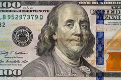 Founding Father - Ben Franklin (jtrainphoto) Tags: benfranklin macro ef100mm 100 canon federalreservenote dollar 100mm money flatlay
