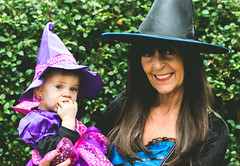 Mini Witch (C. E. Kingsley-Jones) Tags: nikon d7200 35 18 mm g halloween holiday pink green blue girl woman witch costume cosplay cute funny dressup family people person kid child